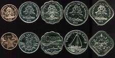 Deals For BAHAMAS SET 5 COINS 1 5 10 25 50 CENTS 20052009 UNC