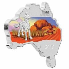 Promo Offer Australia MAP SHAPED COIN SERIES 2016 Dingo 1 OZ SILVER proof COIN