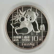 Big Discount China 1989 1 Oz 999 Silver Panda 10 Yuan Coin GEM BU in Original Capsule
