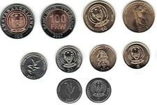 Promo Offer RWANDA 5PIECE UNCIRCULATED CURRENT COIN SET 1  100 FRANCS