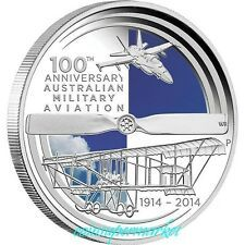 Bargain 100 Years Of Australia Military Aviation 2014 1oz Silver Proof Coin COA  Box