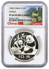 Cheap Price 1983 China Silver Panda 10Y NGC PF69 UC GREAT WALL LABEL SKU32132