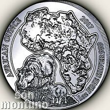 The Cheapest PROOF  2017 Rwanda HIPPOPOTAMUS 1 oz Silver African Hippo Coin ONLY 1000 Online