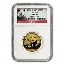 Best Reviews 2012 China 12 oz Gold Panda MS70 NGC  SKU 67315