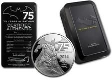 Promo Offer Niue 2014 5 Batman  75 Years of Anniversary Proof 2 Oz Silver Coin