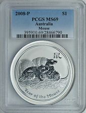 Best Price 2008 1 oz PCGS MS69 Silver Australian Year of the Mouse Coin Bullion