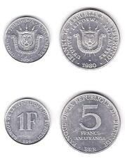 Discounted BURUNDI UNCIRCULATED COIN PAIR 1 AND 5 FRANCS  KM1920