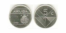 Buying Aruba 1999 5 Cents 10 Uncirculated Coin Lot KM1