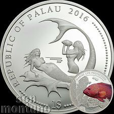 Get Rabate 2016 Palau 1  CORAL HIND FISH Marine Life Protection Silver Plated COPPER Coin