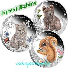 Bargain 2013 Australia Forest Babies 12oz Silver Proof ThreeCoin Bundle The Perth Mint