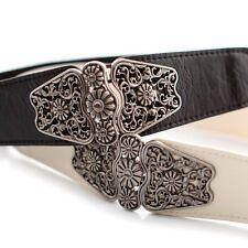 SALE Elegant Womens Skinny Elastic Waist Belt Vintage Buckle Waistband Cinch Strap