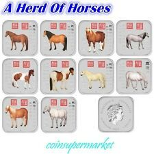 The Cheapest 2014 Australia Lunar Year Of The Horse 1oz Silver Square 10Coin Set Collection Online
