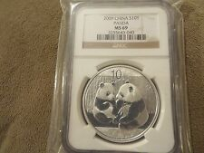 SALE 2009 SILVER PANDA CHINA S10Y 1oz  NGC MS69 NICE