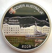 Affordable Australia 2008 Hobart Dollar 1oz Colour Silver CoinProof