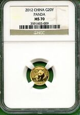 CHINA  PANDA 2012   NGC MS 70  120 OZ  GOLD  20 YUAN Cheap