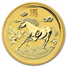 Buy 2014 14 oz Gold Australian Perth Mint Lunar Year of the Horse Coin with Credit Card