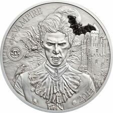 Big SALE Palau 2014 10 Mythical Creatures II  The Vampire 2oz Silver Coin