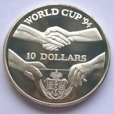 Low Priced Niue 1991 World Cup 10 Dollars 1oz Silver CoinProof
