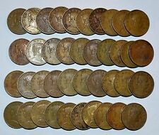 Buy MEXICO lot CINCO CENTAVOS vintage world C foreign Mexican brass 40 COINS with Credit Card