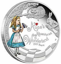 Best Price 2015 150TH ANNIVERSARY OF ALICES ADVENTURES IN WONDERLAND 1OZ SILVER PROOF COIN