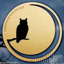 Deals For 2016 Mongolian Nature  EAGLE OWL  12 Oz Sterling Silver 24K Gold Gilded Coin