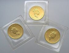 Buy 3 SEALED 1993 5 CANADA MAPLE 110 OZ GOLD COINS 9999 PURE with Paypal