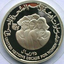 Buy Yemen 1985 Year of Women 25 Riyal Silver CoinProof with Credit Card