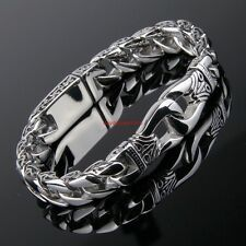 11mm New Fashion Mens Jewelry Stainless Steel Silver Chain Bracelet 866 for Sale Online