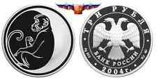 Cheap Russia 3 rubles 2004 Year of Monkey Silver 1 oz PROOF Online