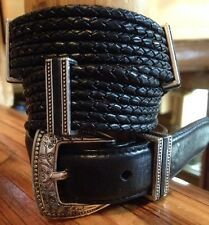 Brighton Womens Black Leather with Silver Belt Size M 30 830133 for Sale Online