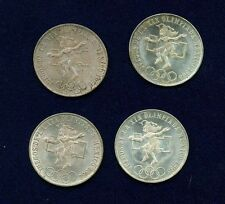 Price Comparisons MEXICO   1968  25 PESOS OLYMPIC SILVER COINS UNCIRCULATED  LOT OF 4