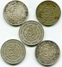 Buy Mexico Pesos 10 silver coins  lot of 5 mixed dates   lotfeb5530 with Paypal