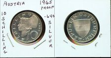 Best Price WORLD COINS AUSTRIA 1965 10 SCHILLING PROOF 2G104 Gorgeous Proof Coin