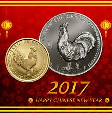 Best Price Year of The Rooster 1oz black proof silver and Gold proof coin Mongolia 2017