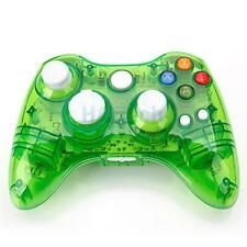 Promo Offer New Wireless Controller Joypad for Microsoft Xbox 360 Console Green Glow