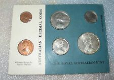 Cheap Price 1966 AUSTRALIA  COIN SET WITH SILVER 12 DOLLAR SEALED BU