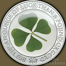 Best Savings for 2017 Palau  FOUR 4 LEAF CLOVER Ounce of Luck Silver 5 Dollar Proof Coin