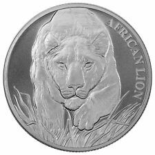 Big Discount 2017 1 oz Chad Silver African Lion Coin BU  SKU 0482