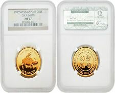 Singapore 1985 Year of Ox 12 oz Gold NGC MS67 Best Price