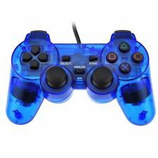 Bargain Blue Twin Shock Game Controller Joypad Pad for Sony PS2 Playstation 2 Brand New