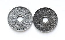 1932 25 CENTIMES FRANCE 2 COINS KM867a Cheap