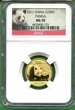 Best Savings for CHINA  2011  PANDA  14  OZ  GOLD  100 YUAN   NGC MS 70