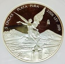 For Sale 2006 5oz Silver Libertad Proof  Treasure Coin of MexicoNGC PF62 700 mintage