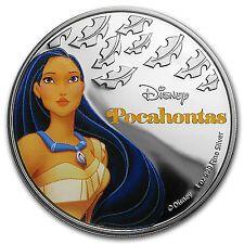 Bargain 2016 Niue 1 oz Silver 2 Disney Princess Pocahontas  SKU 101569