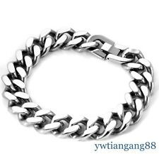Best Price for Charming Silver 316L Stainless Steel Curb Chain Heavy Mens Fashion Bracelet 9