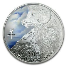 On Sale 2015 Niue 1 oz Silver 2 Lunar Year of the Goat Colorized Coin  SKU 85158