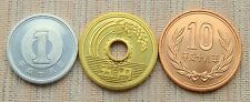 Buy JAPAN  1 5 10   Set of Three Coins  all UNC with Credit Card