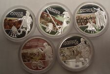 Discounted 2009 TUVALU FAMOUS BATTLES 5 COIN SET 1oz SILVER PROOF BOXCOA