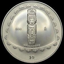 Cheap Price 1998 Mexico 1 oz Silver Coin 5 Pesos PreColumbian Sacerdote