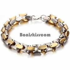 Buying Mens Stainless Steel Square Cuban Curb Link Chain Bracelet Gold Silver Tone